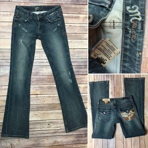 Miss Me Jeans Cowhide Flap Pocket Belgium Bootcut